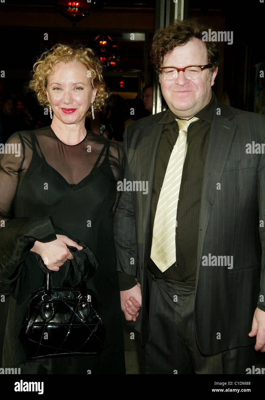 J. Smith Cameron and her husband Kenny Lonergan Opening Night of the Broadway play 'The Philanthropist' - Stock Image