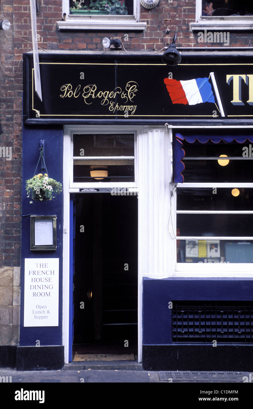 United Kingdom, London, Soho district, Dean Street, the French Pub (headquarters of the french forces during the - Stock Image