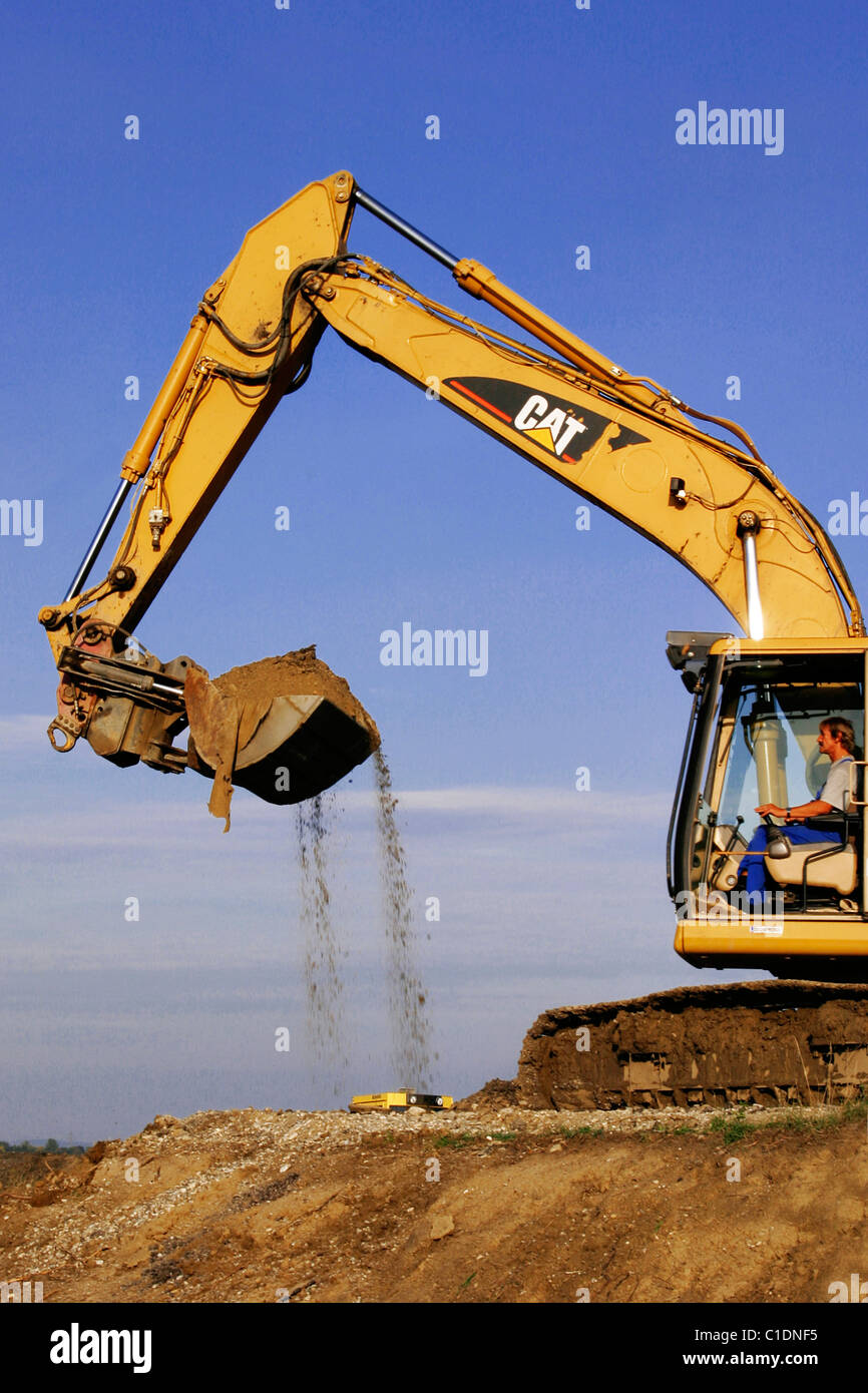 excavator at the work - Stock Image