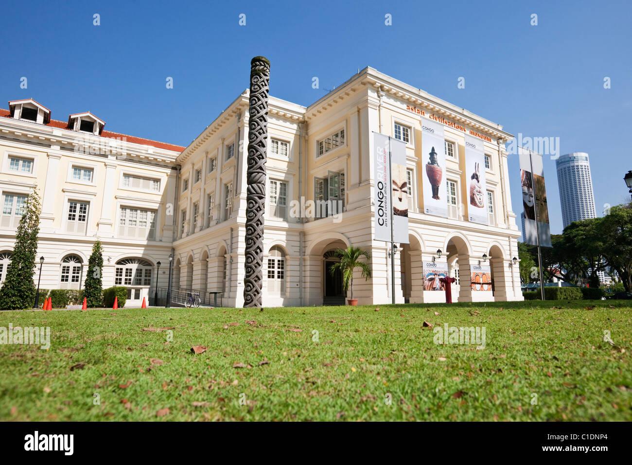 Asian Civilisations Museum at Raffles Place, Singapore - Stock Image