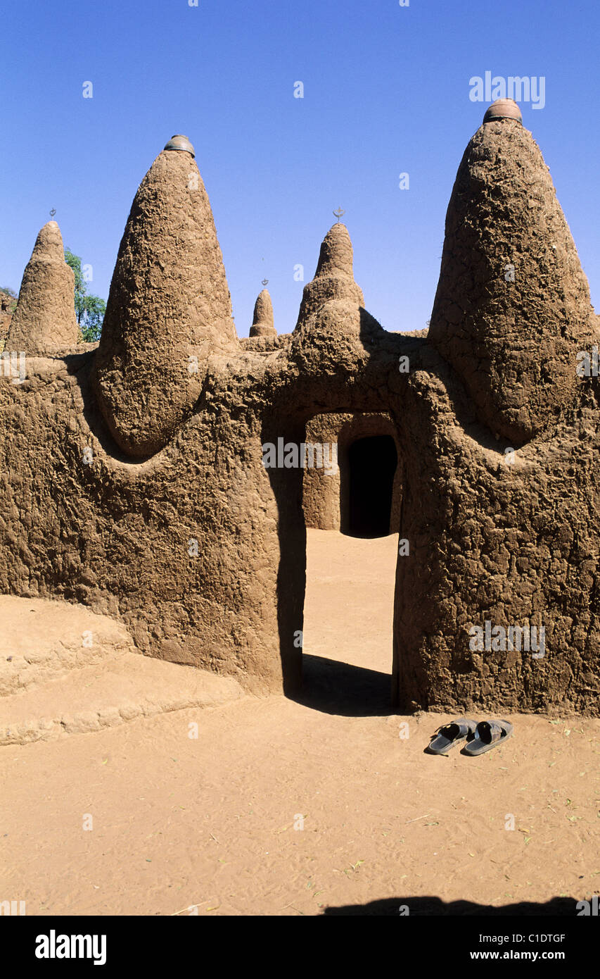 Mali, Dogon Country, Songo, one of the village mosques - Stock Image