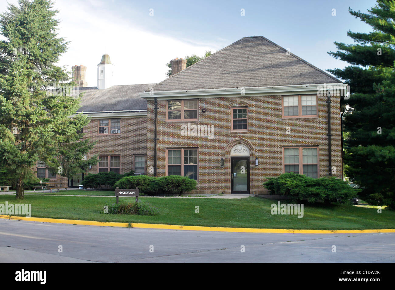 Building at Iowa Braille and Sight Saving School located in Vinton, Iowa - Stock Image