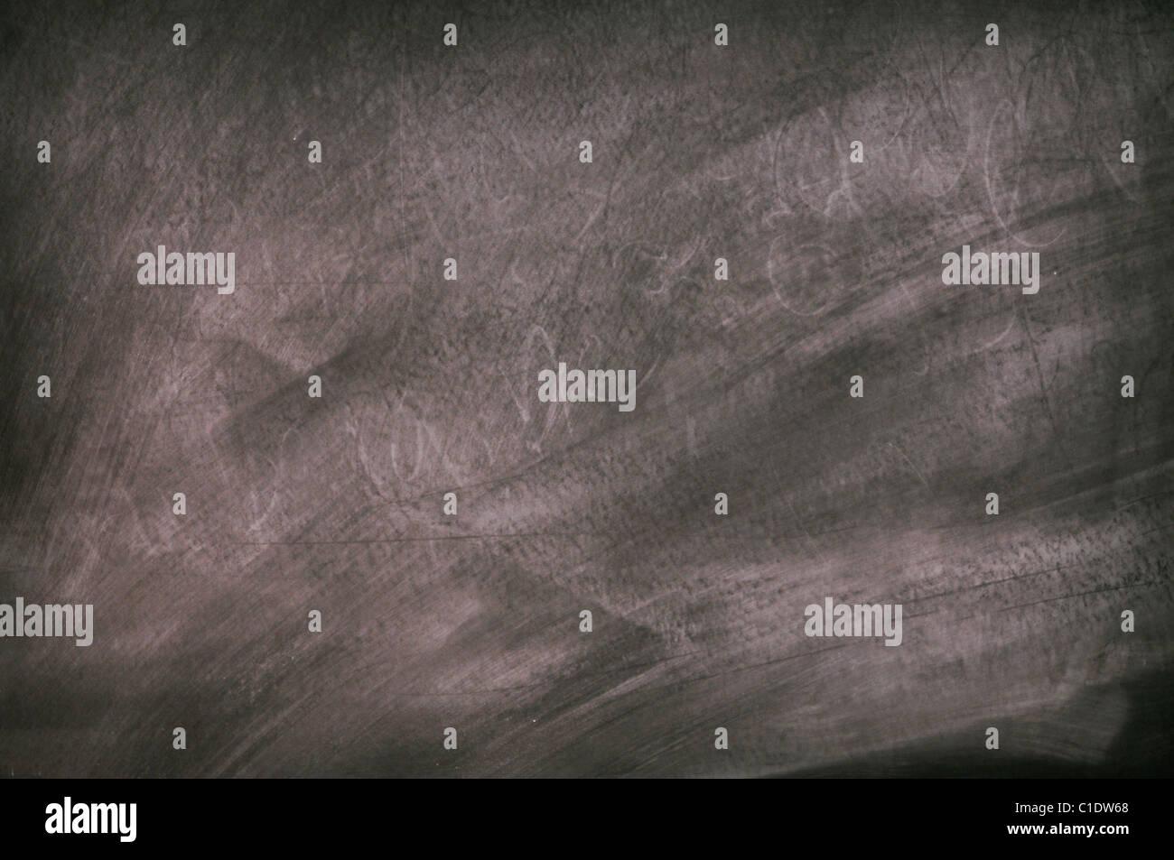 Black slate chalkboard surface - Stock Image