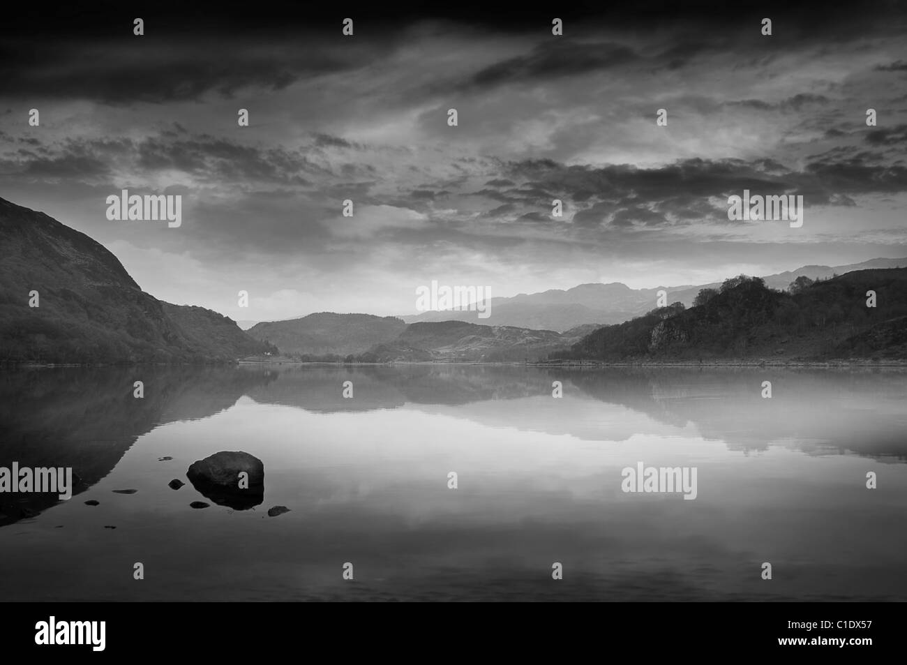 Snowdonia lake - Stock Image