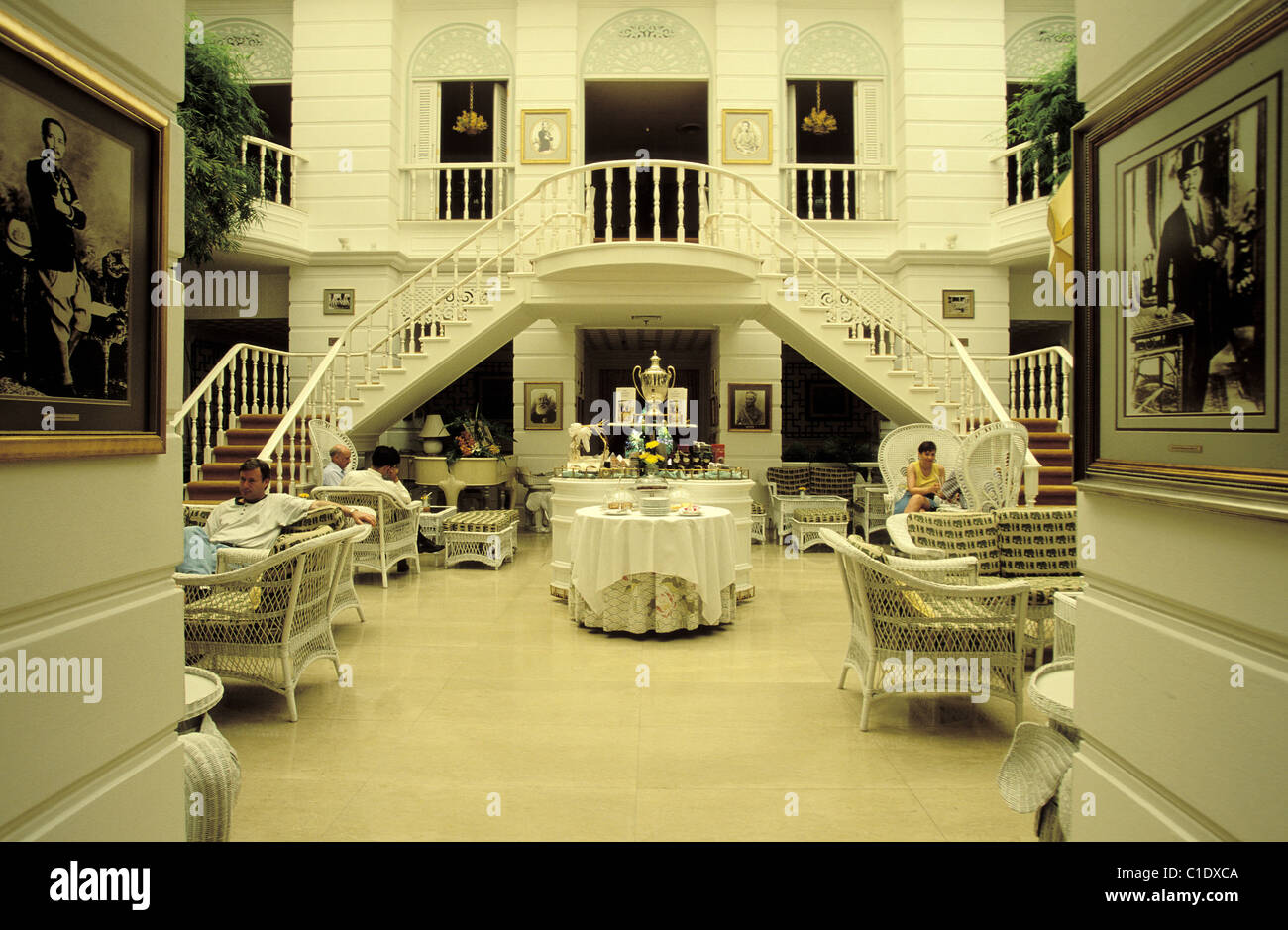 Thailand, Bangkok, Oriental hotel, the Author's Lounge - Stock Image