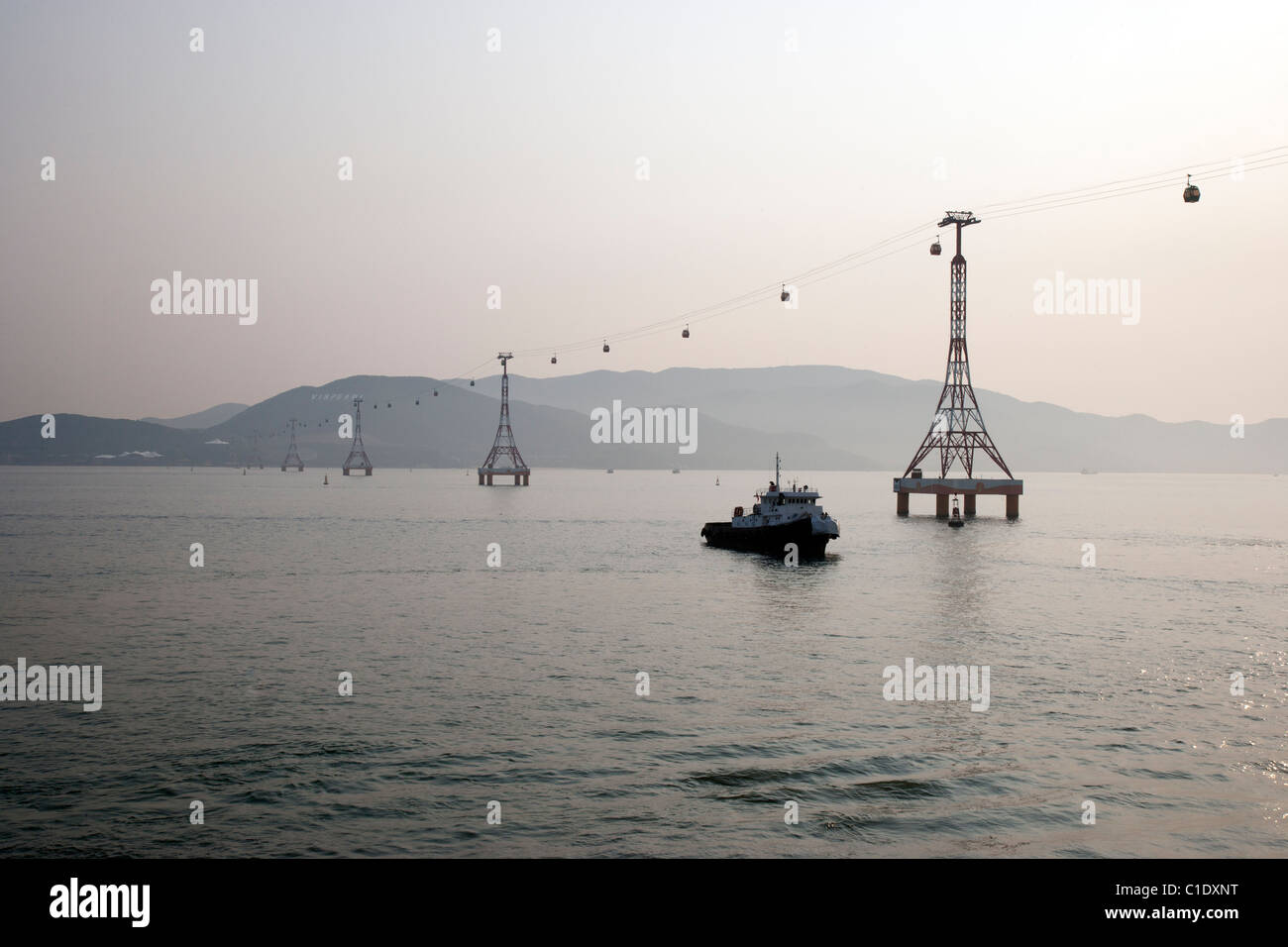 Cable Car from Nha Trang to VinPearl - Stock Image