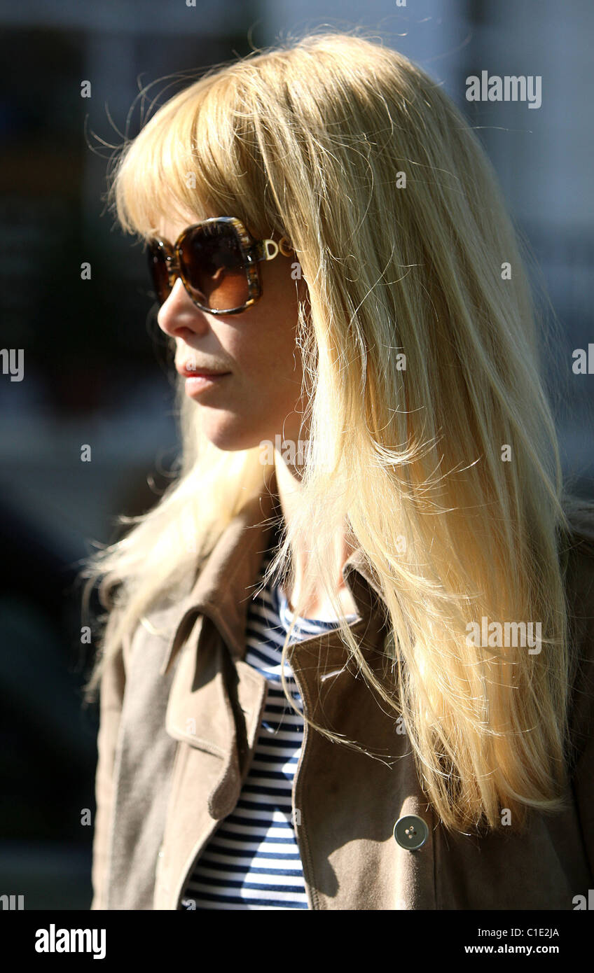 Claudia Schiffer Sports A New Fringe While Taking Her Children To