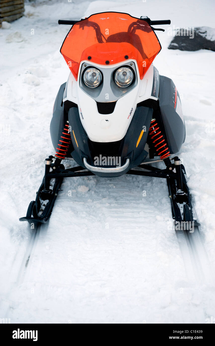 A Skidoo in Churchill, Manitoba, Canada - Stock Image