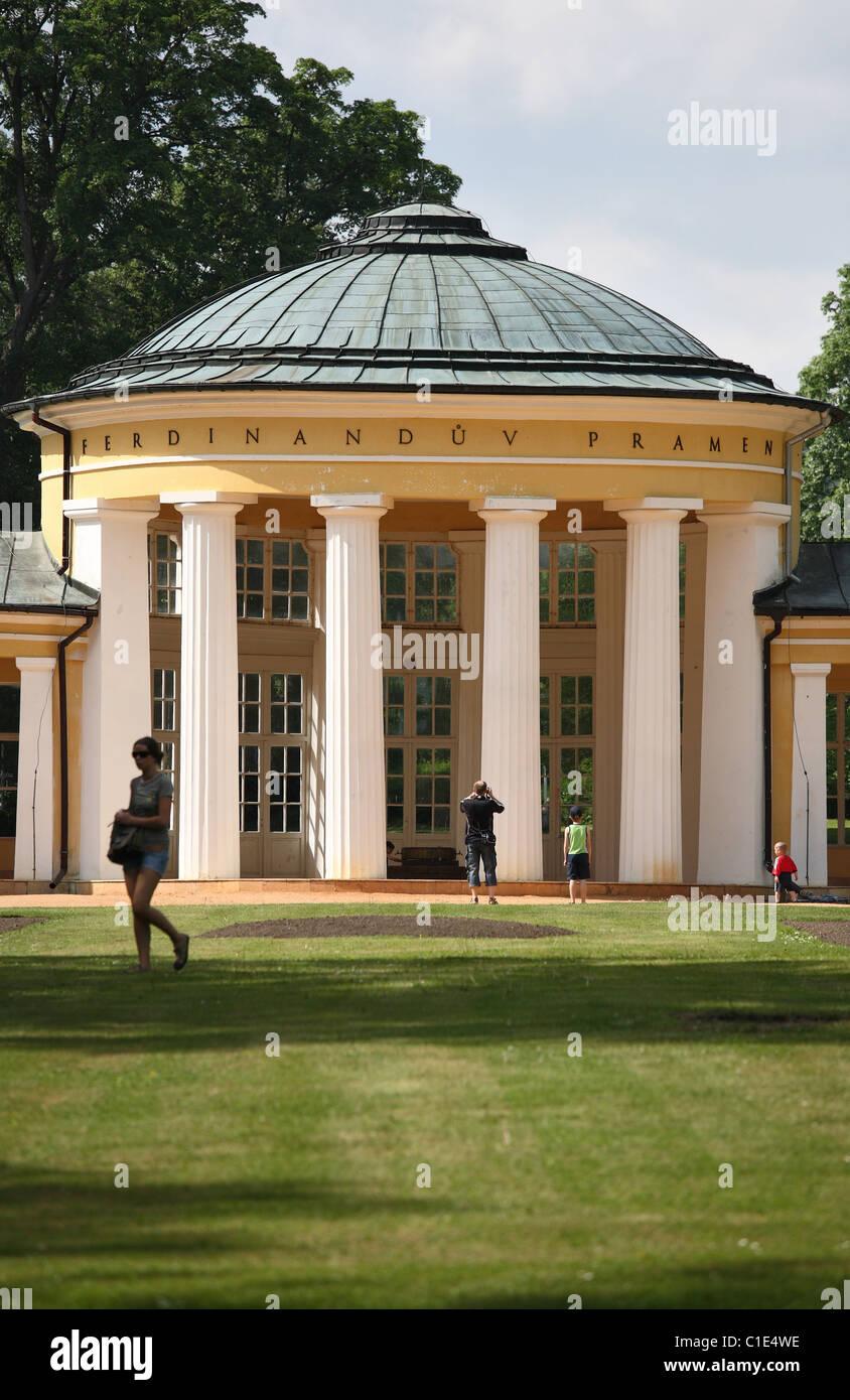 Ferdinand's Spring Colonnade, Marianske Lazne, Czech Republic - Stock Image
