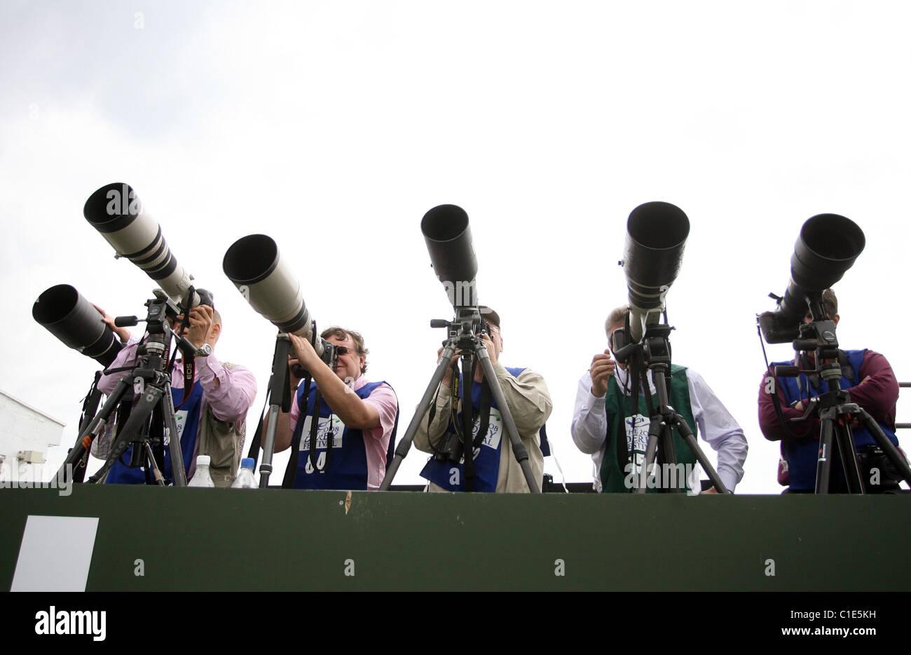 Photographers at work, Epsom, United Kingdom - Stock Image