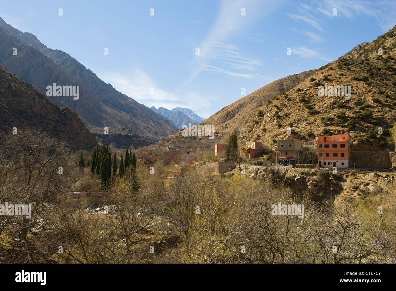 A view in the Ourika Valley - Stock Image