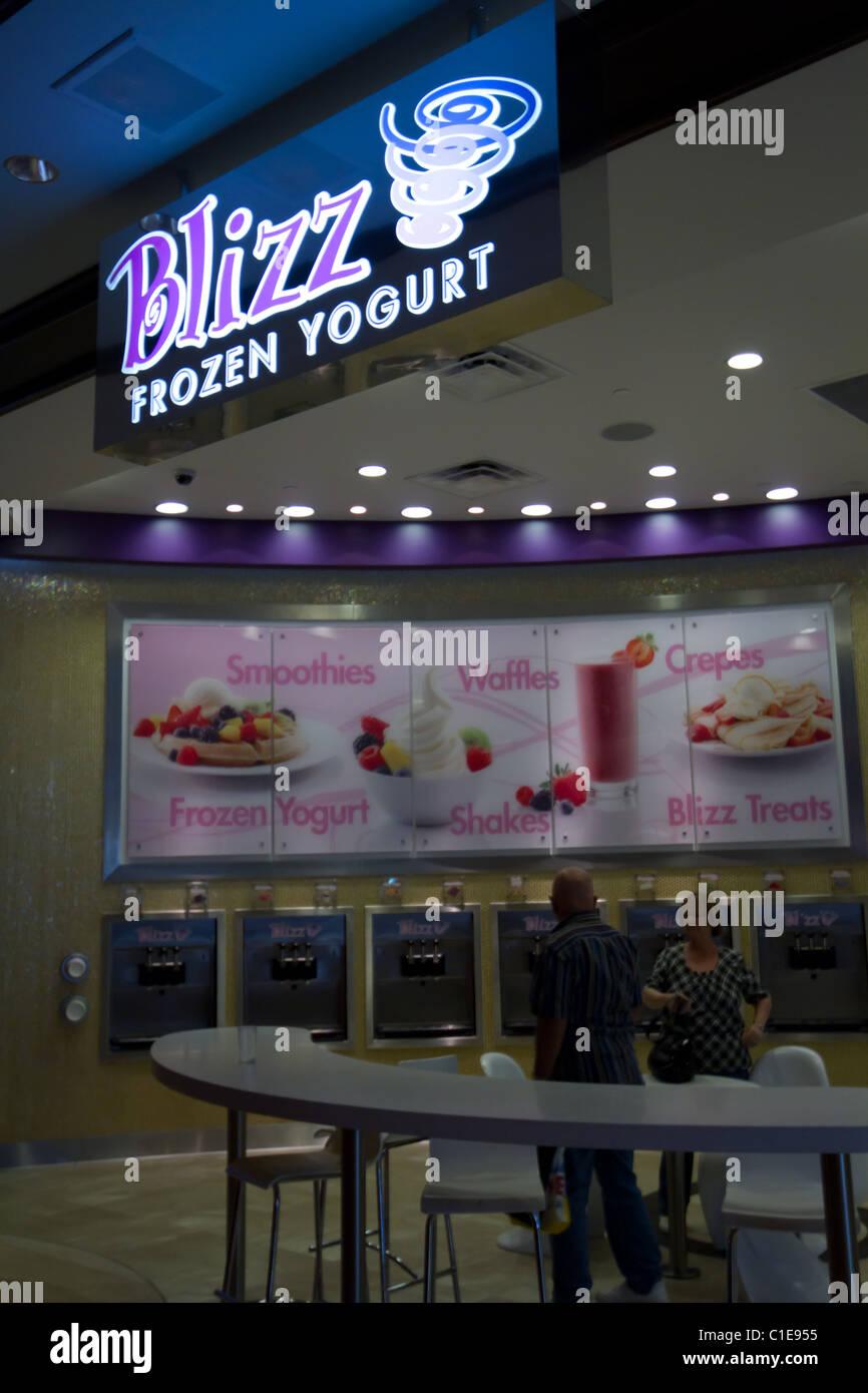 Design On Stock Blizz.Blizz Frozen Yogurt Healthy Stock Photo 35349921 Alamy