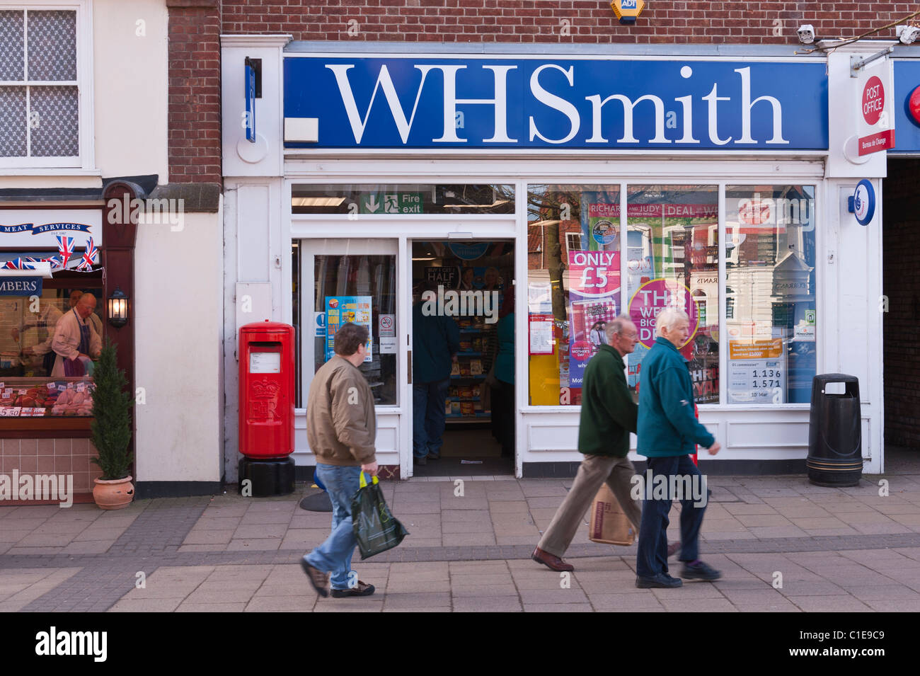 The WH Smith shop store in Beccles , Suffolk , England , Britain , Uk - Stock Image