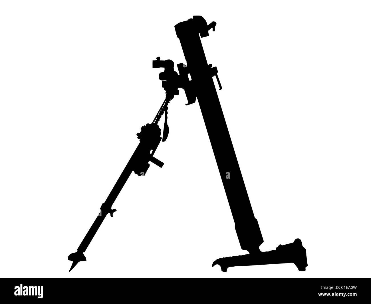 WW2 Series - German 8cm Schwere Granatwerpfer 34 mortar launcher - Stock Image