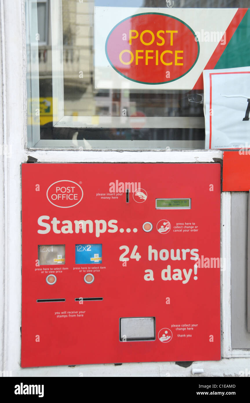 Post Office Stamp Machine Royal Mail England Stock Photo