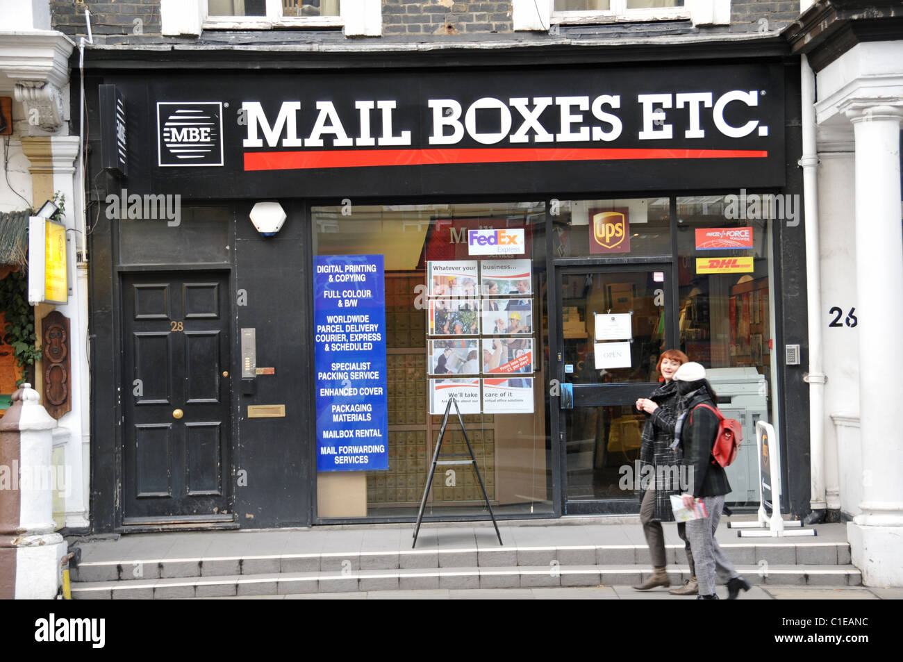 'Mail Boxes Etc' mail box services commercial private mail collection - Stock Image