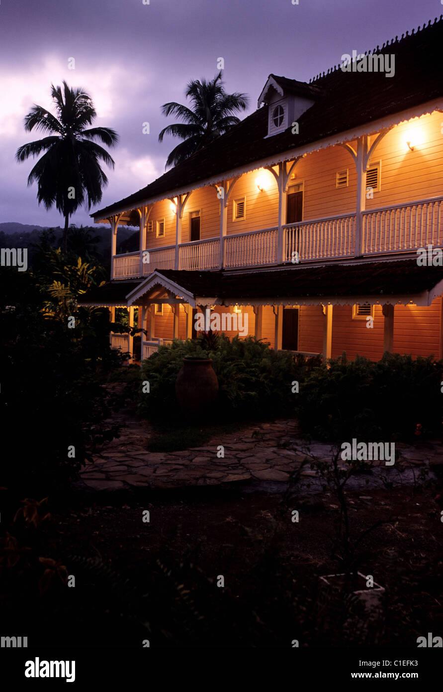 France, Martinique Island, Le Marigot village, Habitation