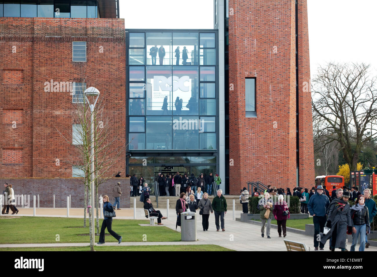 The newly re-opened Royal Shakespeare Theatre in Stratford-Upon-Avon, UK. - Stock Image