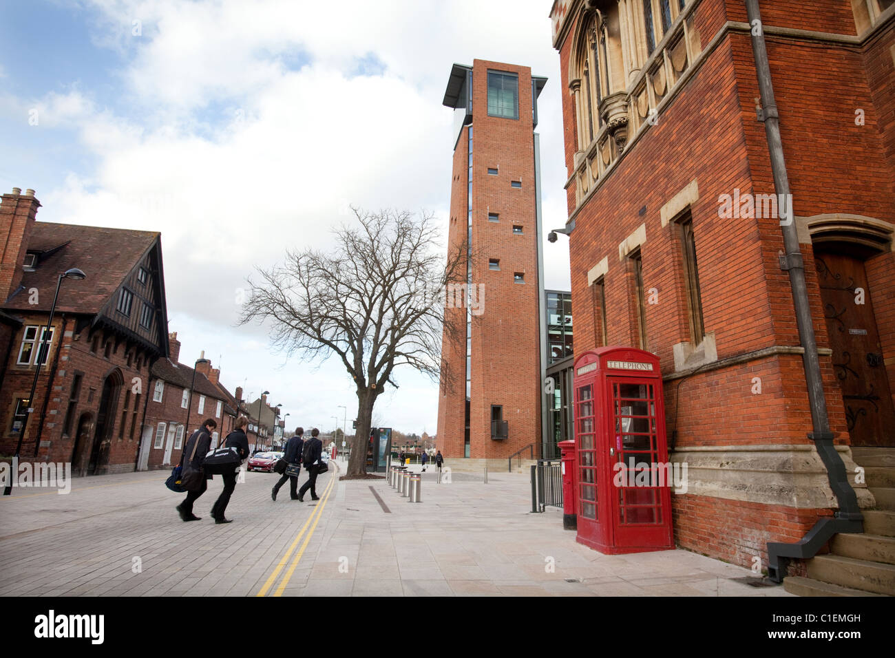 The newly renovated Royal Shakespeare Theatre in Stratford-Upon-Avon, UK. - Stock Image
