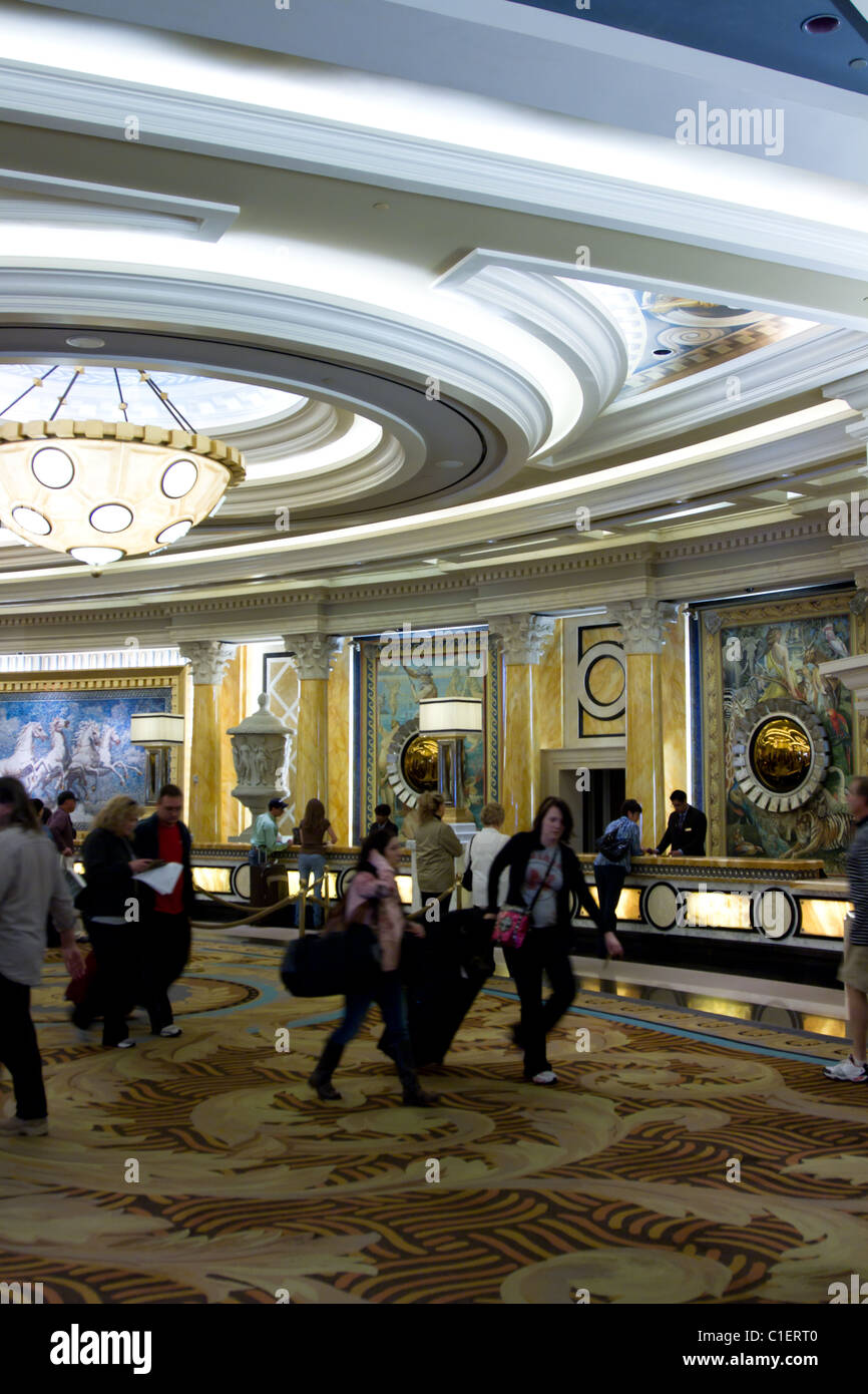 Caesar Palace Hotel Front Desk Las Vegas Stock Photo