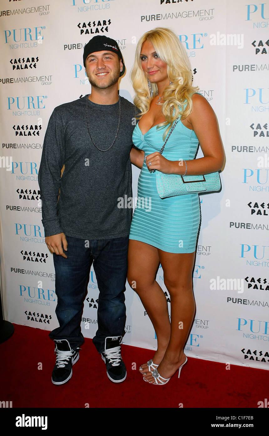 Nick Hogan and Brooke Hogan Brooke Hogan celebrates her 21st Birthday at Pure Nightclub inside Caesars Palace Resort Stock Photo