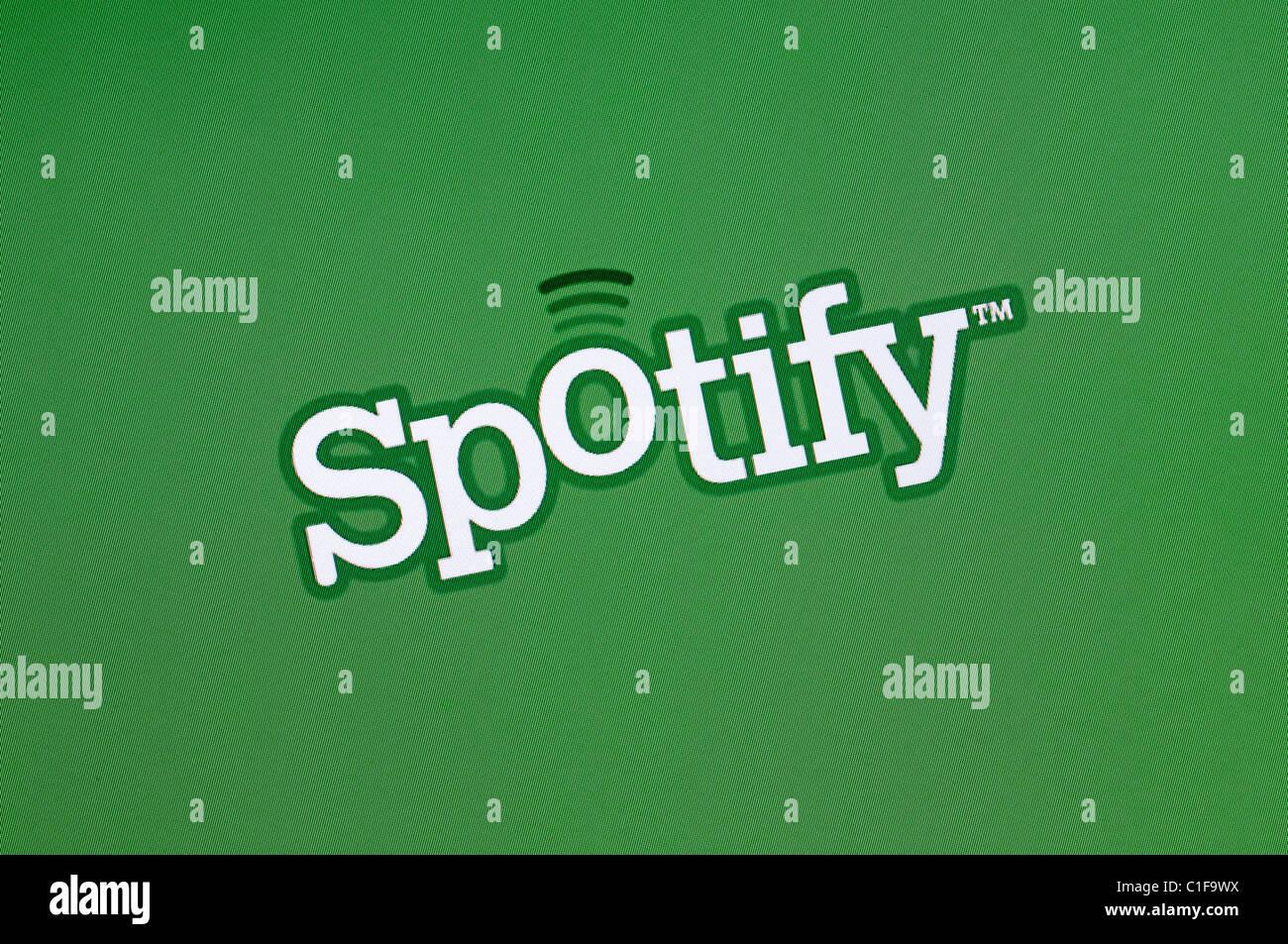 Spotify Logo Screenshot. Online Music Streaming Service. - Stock Image