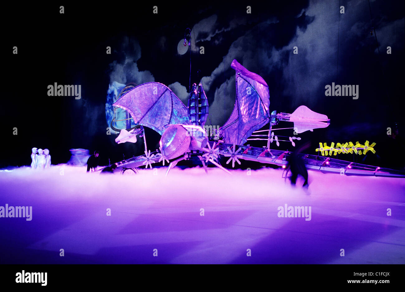 France, Haute Garonne, Toulouse, Airbus A380 presentation show in Jean Luc Lagardere factory at Blagnac (2005 January - Stock Image