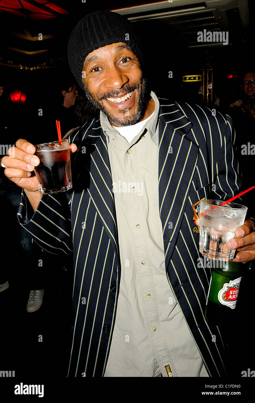 Actor Danny John Jules  Frances Rufelle 'Beneath The Dress'  performance at Madam JoJo's  London, England - Stock Image