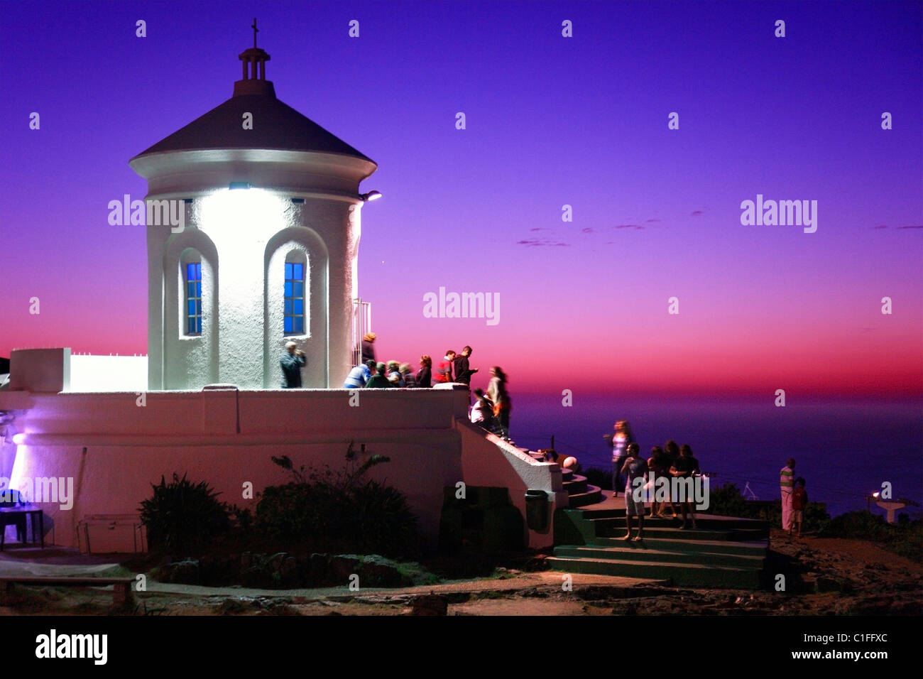 Small Church at cerro San Antonio top, in Piriapolis, Maldonado, Uruguay, south america - Stock Image
