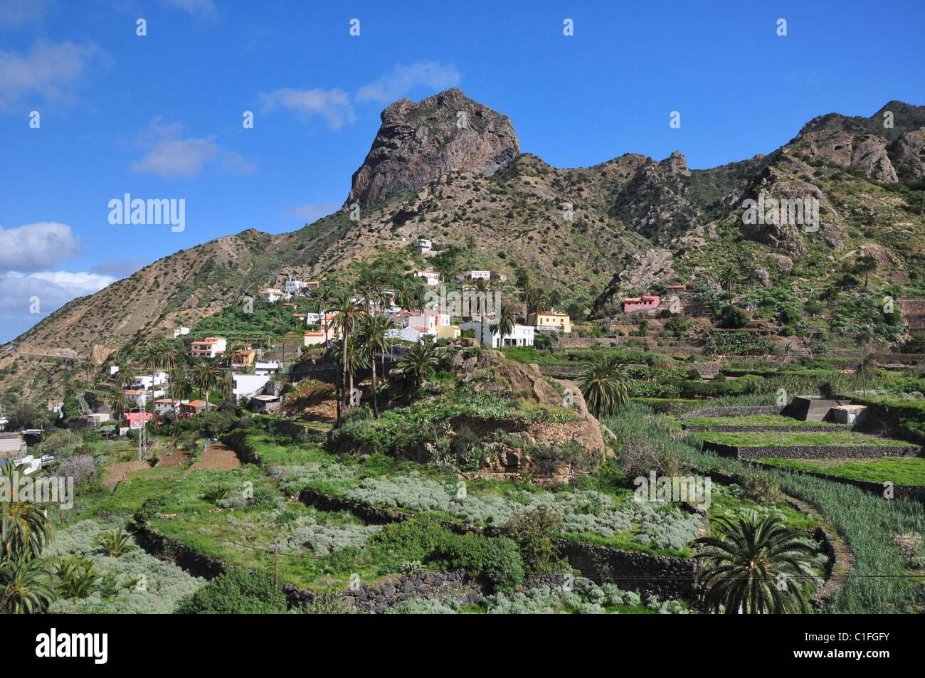 Vallehermoso, Roque Cano,  La Gomera, Canary Islands, Spain - Stock Image