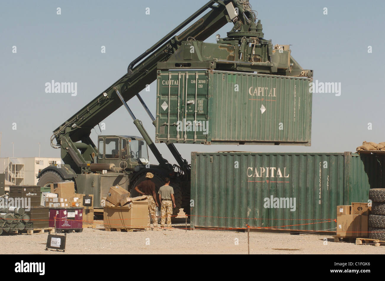 As a Logistic Specialist (Supply) soldier you'll work all over the world, and all across the battle space with - Stock Image