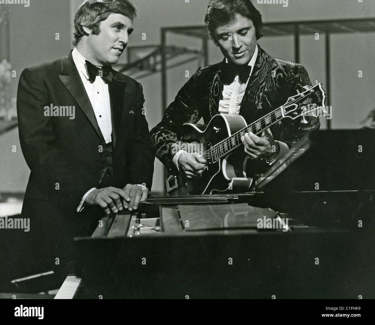 BURT BACHARACH US composer on one of his 70s TV shows with Sacha