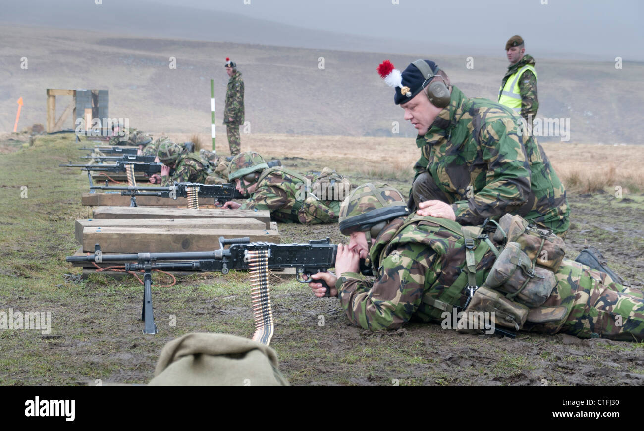 Soldiers from the Territorial Army training - Stock Image