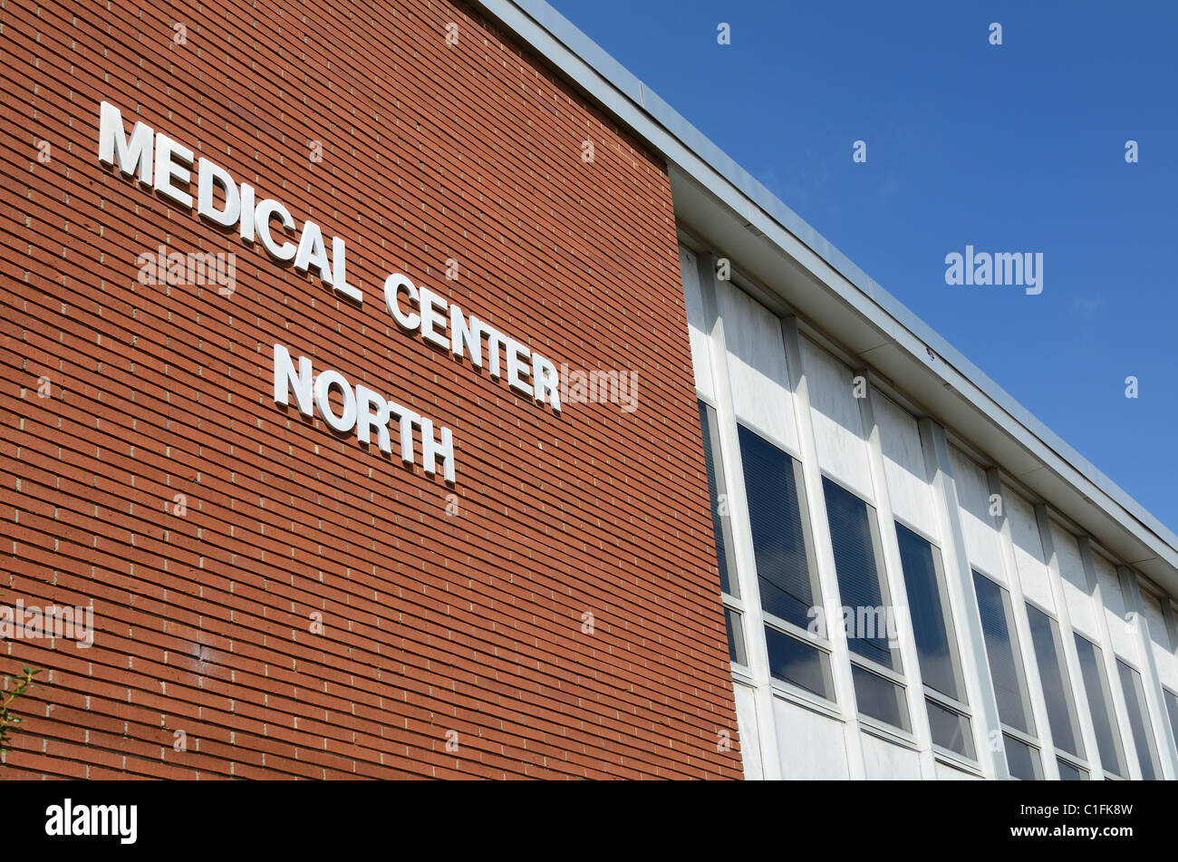 North wing of a medical center - Stock Image