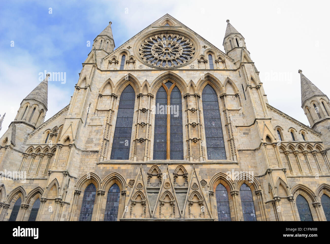 York Minster, a landmark cathedral in York, England. - Stock Image