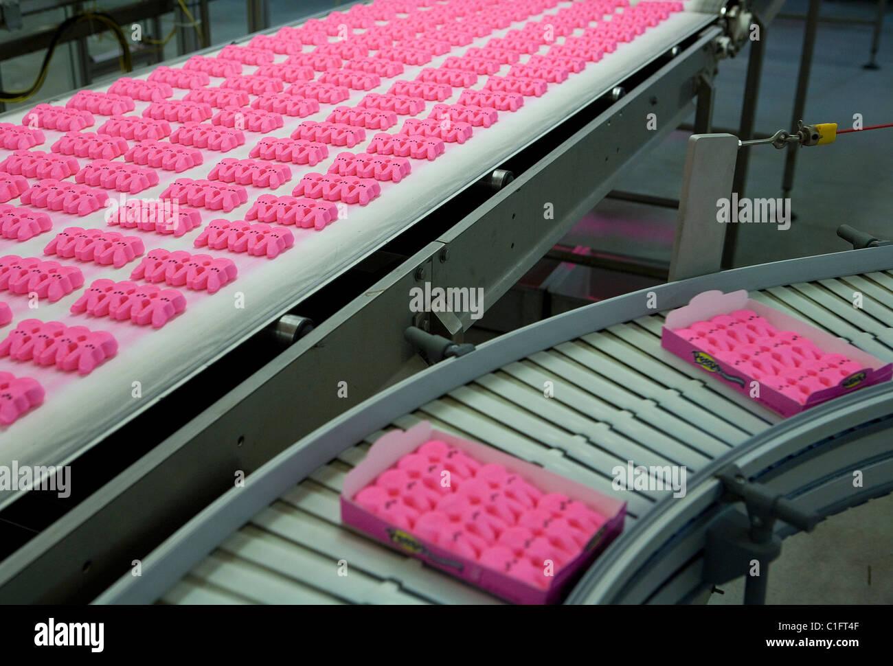 The Marshmallow Peeps factory.  - Stock Image