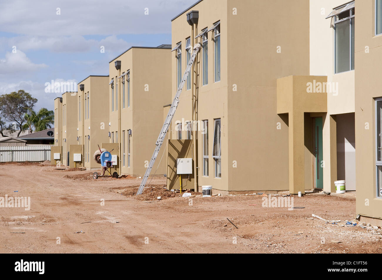 Construction of modern houses/offices in suburban Adelaide, South Australia. Stock Photo