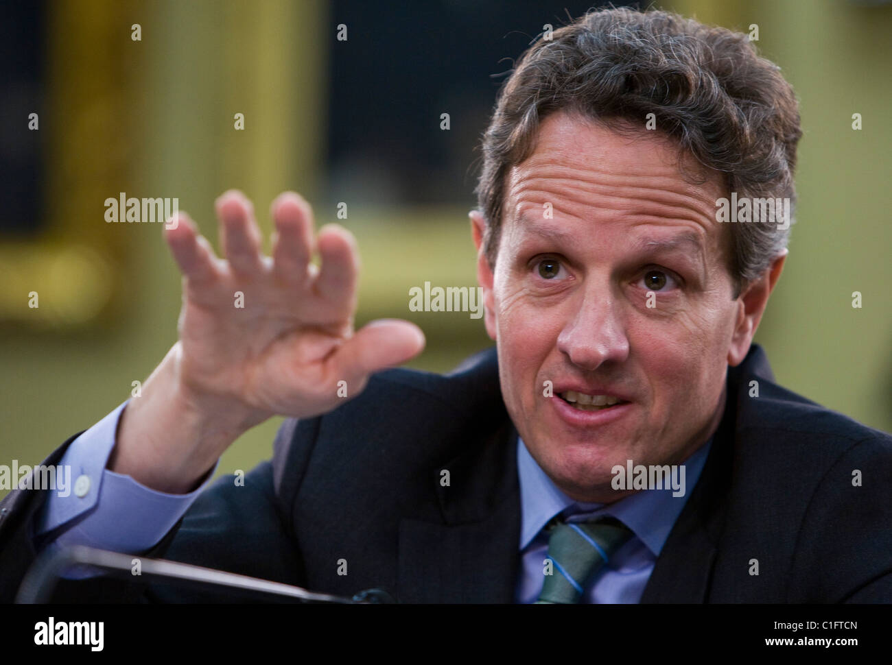 Treasury Secretary Timothy Geithner.  - Stock Image