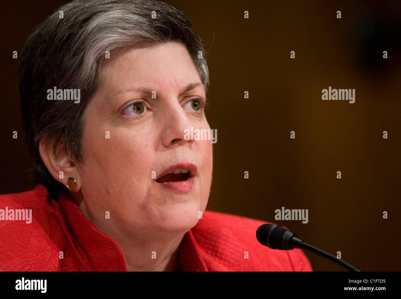 Homeland Security Secretary Janet Napolitano.  - Stock Image
