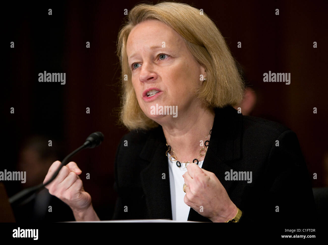 Mary Schapiro, Chairwoman of the Securities and Exchange Commission (SEC) - Stock Image