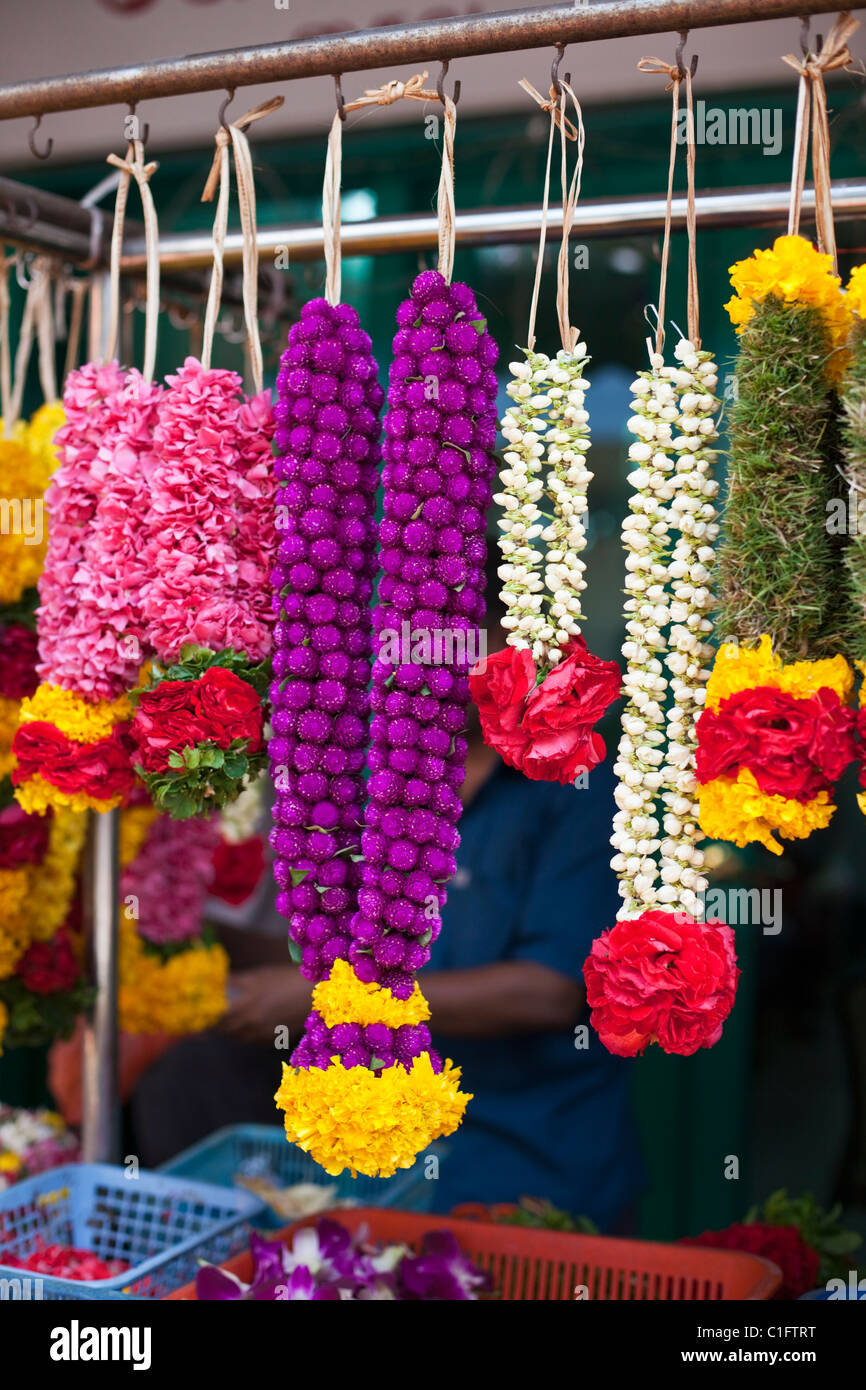 Garland for temple stock photos garland for temple stock images flower garlands used as temple offerings little india singapore stock image izmirmasajfo