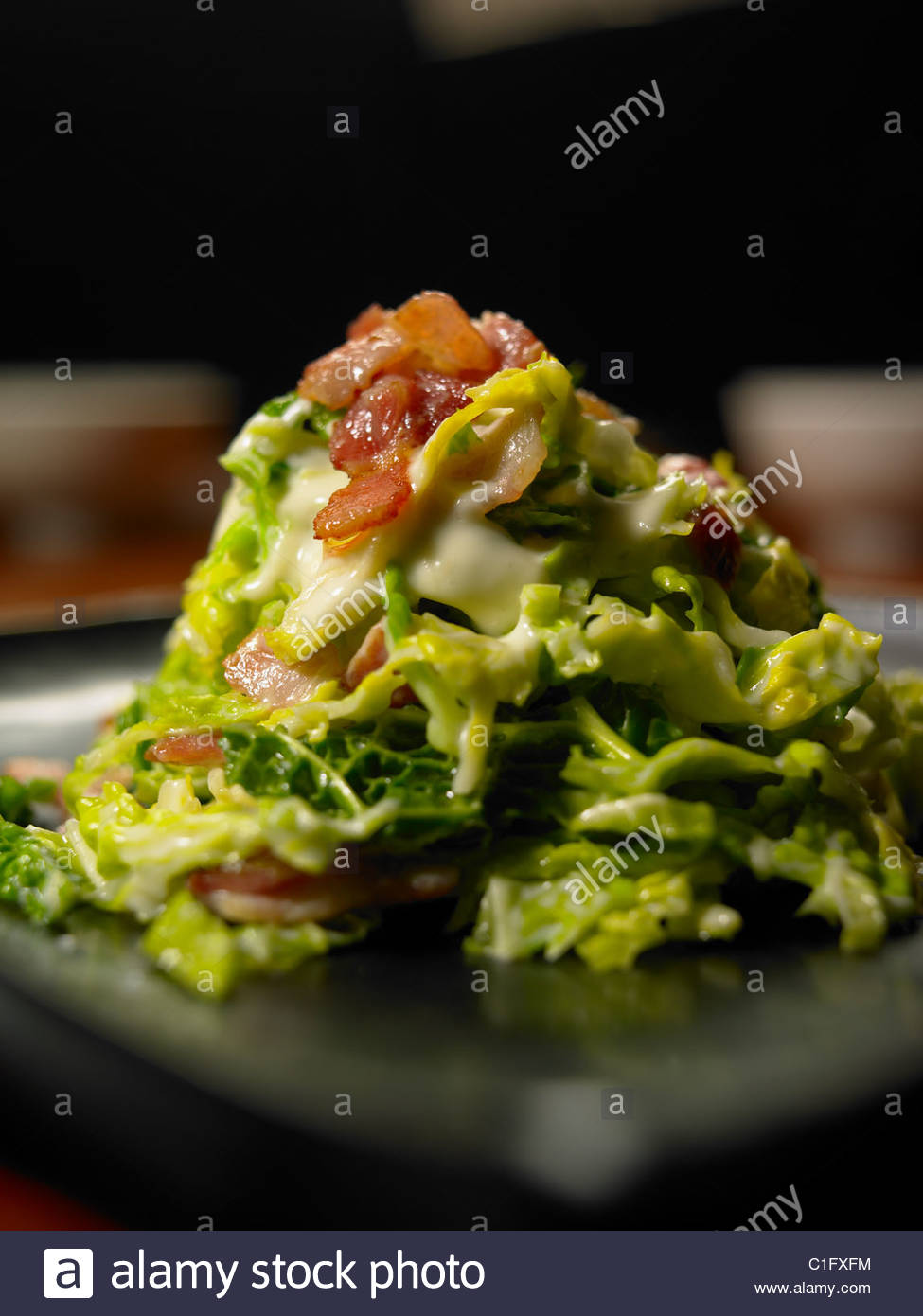 Cabbage and Bacon Side Dish - Stock Image