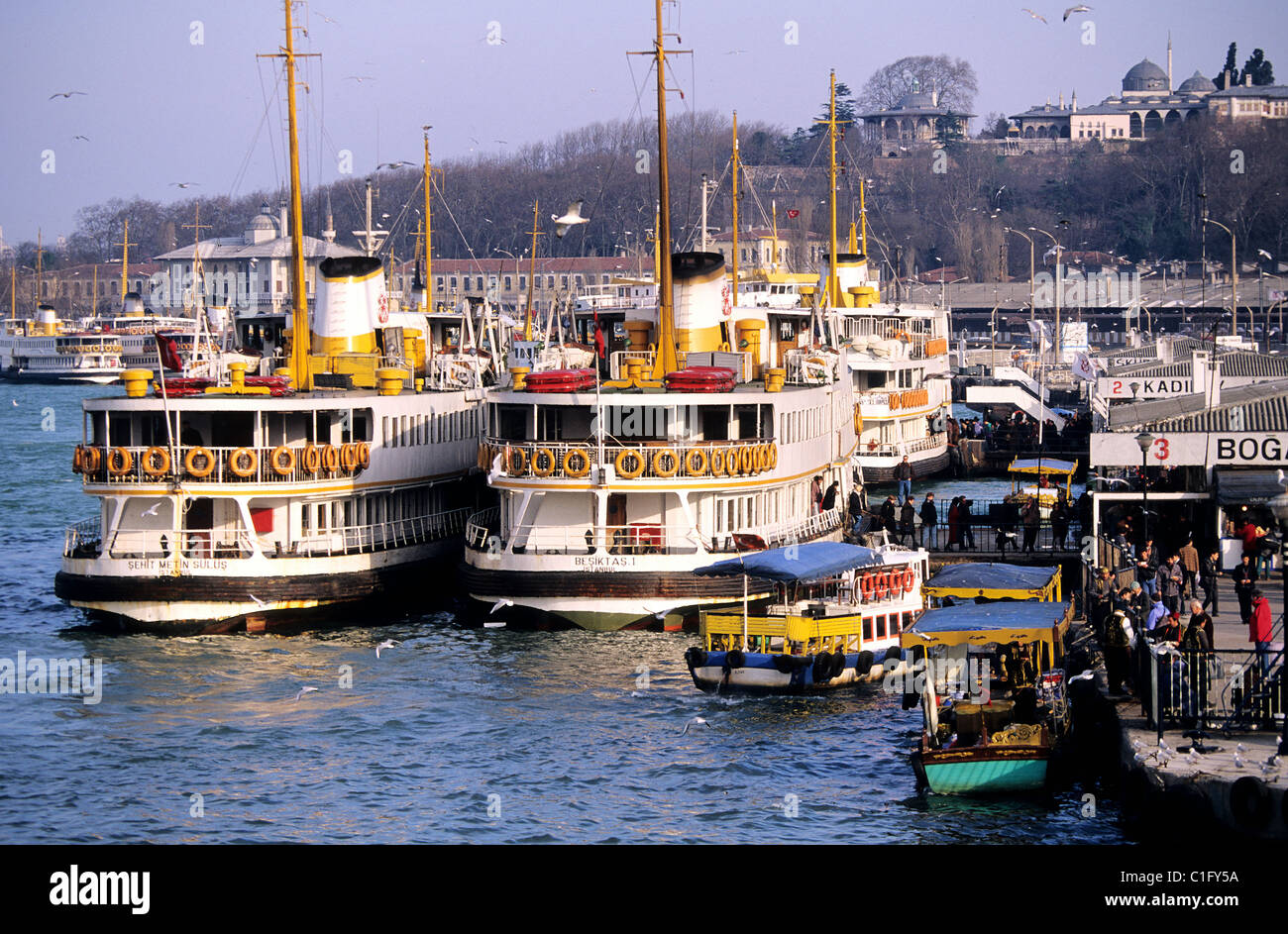 Turkey, Istanbul, Eminonu District, harbour on the Golden Horn Stock