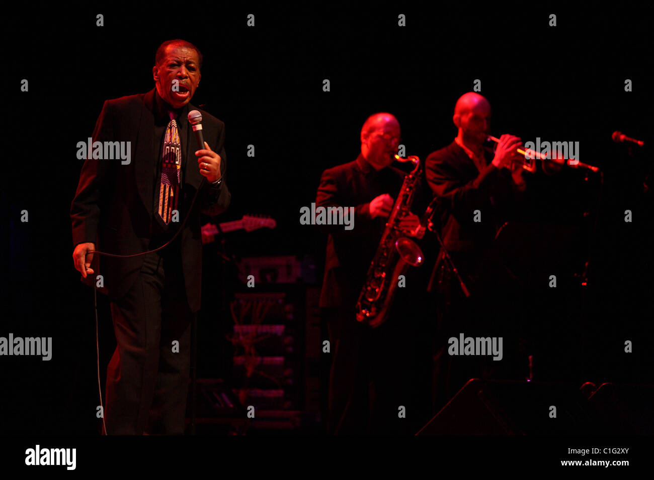 Ben E King Performing live March 2011 - Stock Image