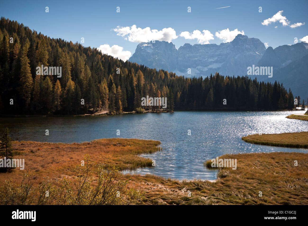 Lago di Dobiacco - Stock Image