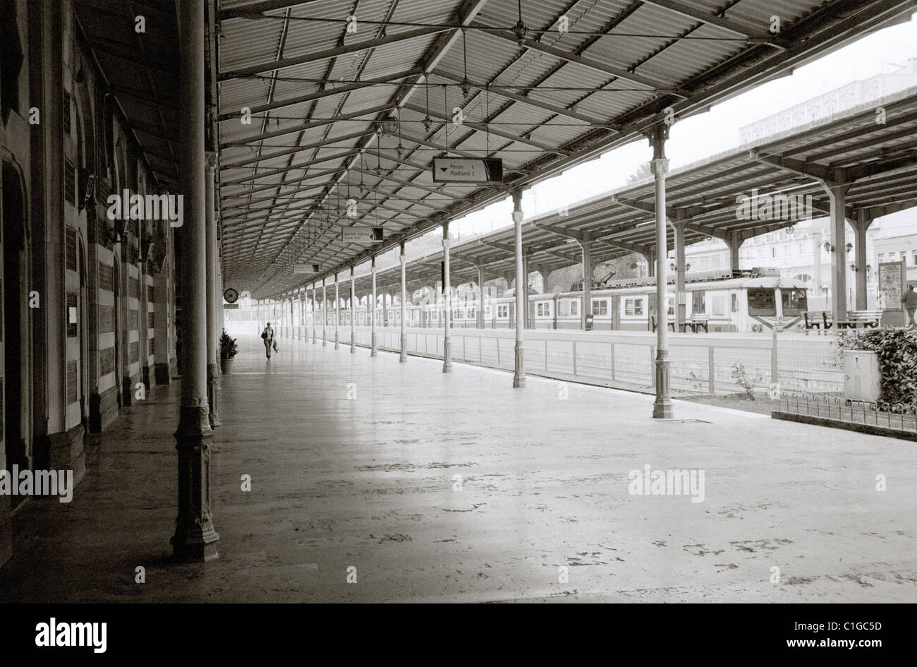 Sirkeci Train Railway Station in Eminonu Istanbul in Turkey Middle East Asia. Orient Express History Historical - Stock Image