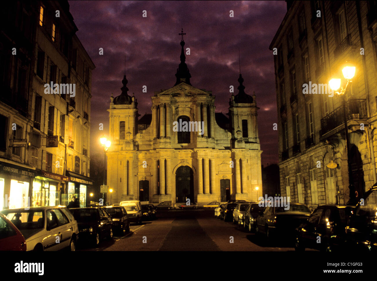 france yvelines versailles saint louis cathedral stock photo