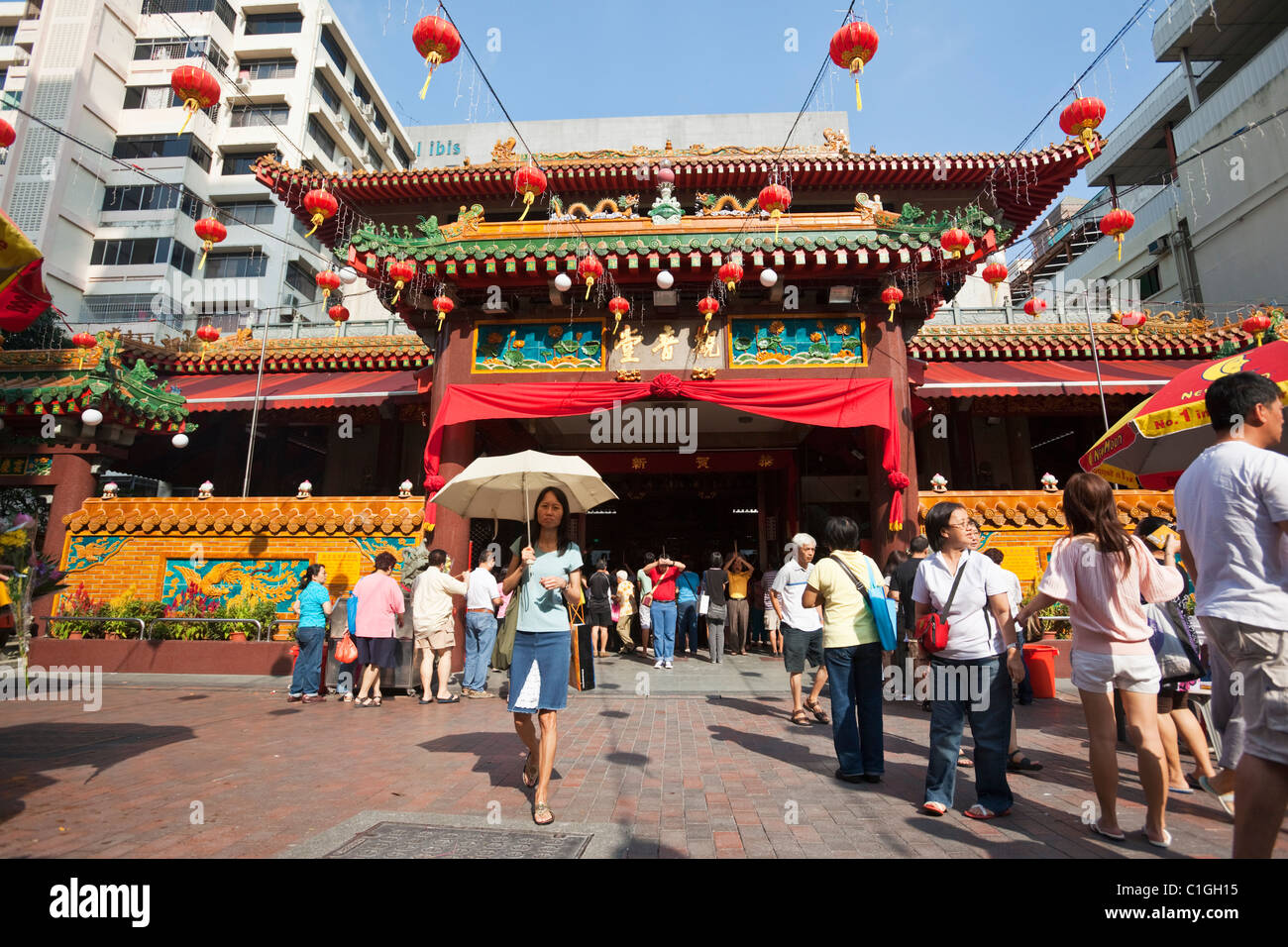 The Kwan Im Thong Hood Cho Temple.  Bugis, Singapore - Stock Image