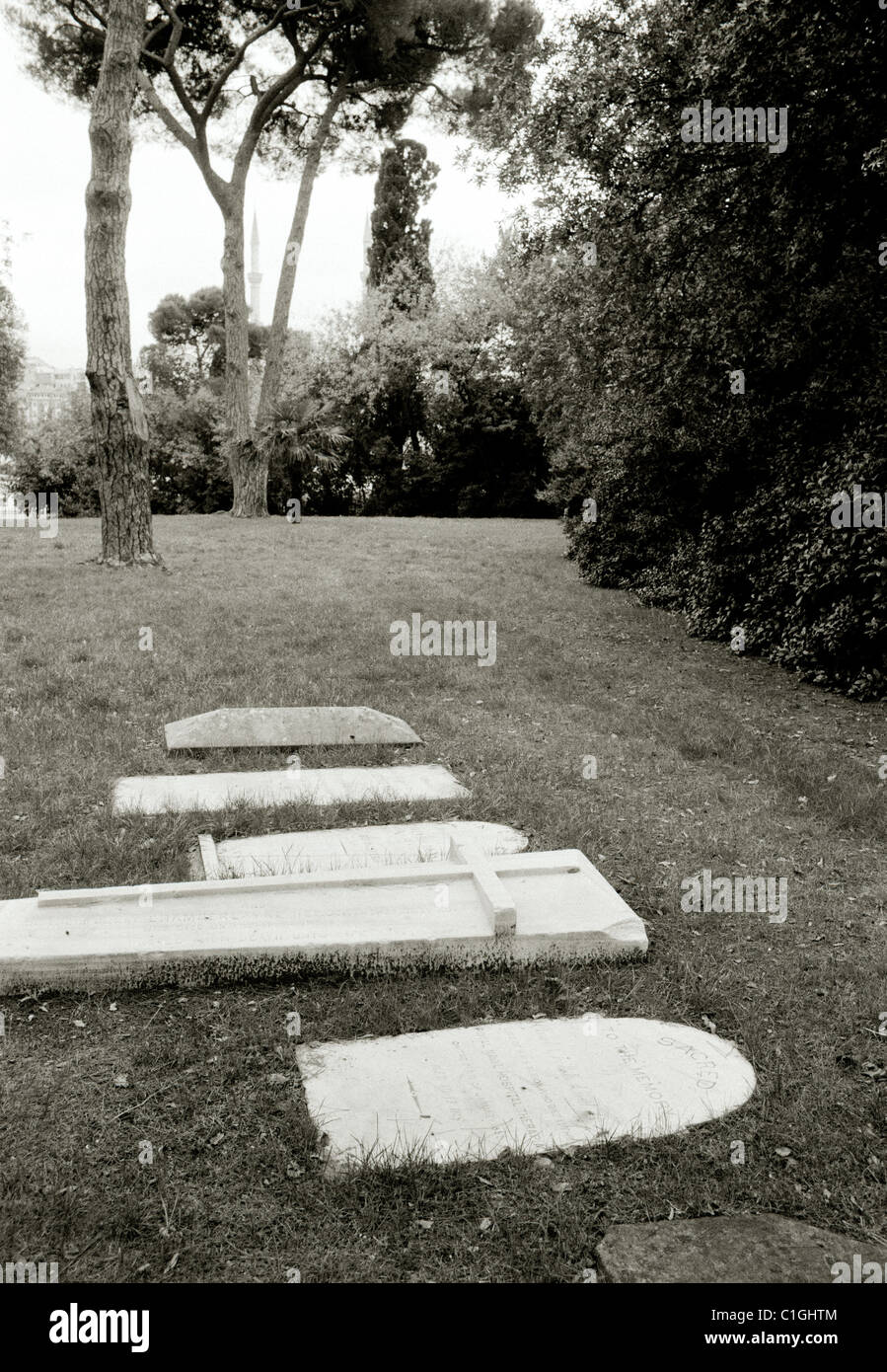 Haydarpasa British War Cemetery in Uskudar in Istanbul in Turkey in Middle East Asia. History Historical Historic - Stock Image