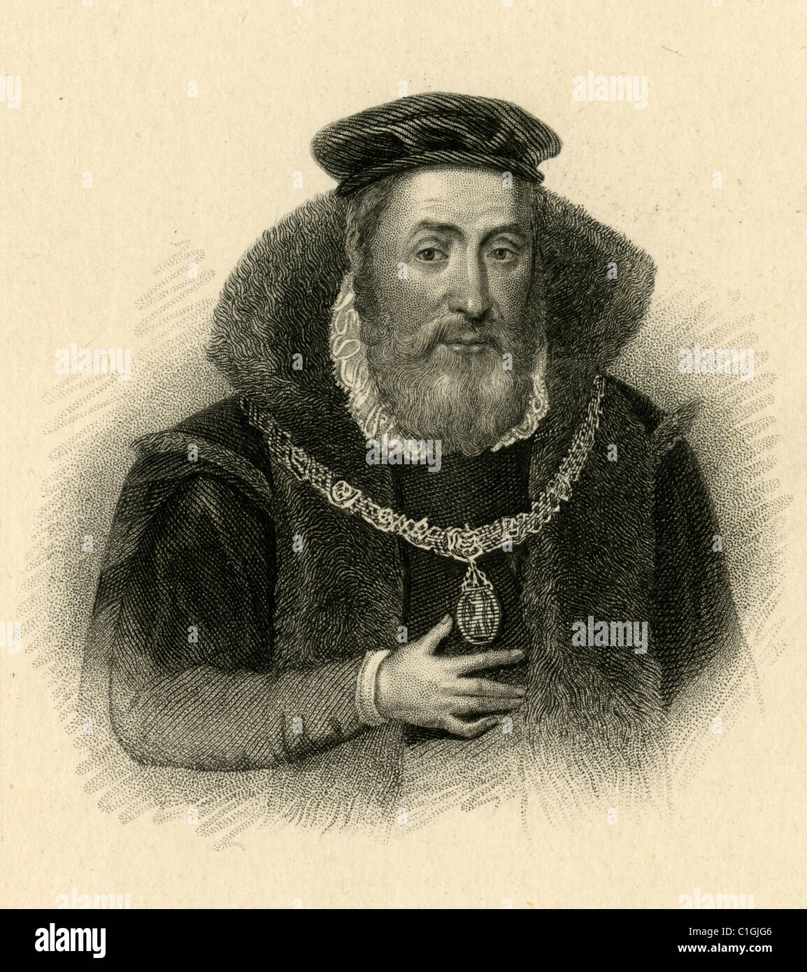 James Hamilton, Duke of Châtellerault and 2nd Earl of Arran (c. 1516 – 22 January 1575) was a Scottish nobleman. - Stock Image